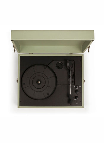 Voyager Portable Turntable - Sage design by Crosley