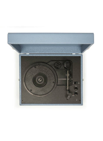 Voyager Portable Turntable in Washed Blue