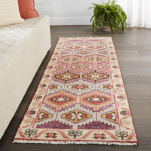 Nemi Handmade Tribal Purple & Pink Rug