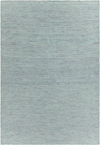 Crest Collection Hand-Woven Area Rug in Blue & White design by Chandra rugs