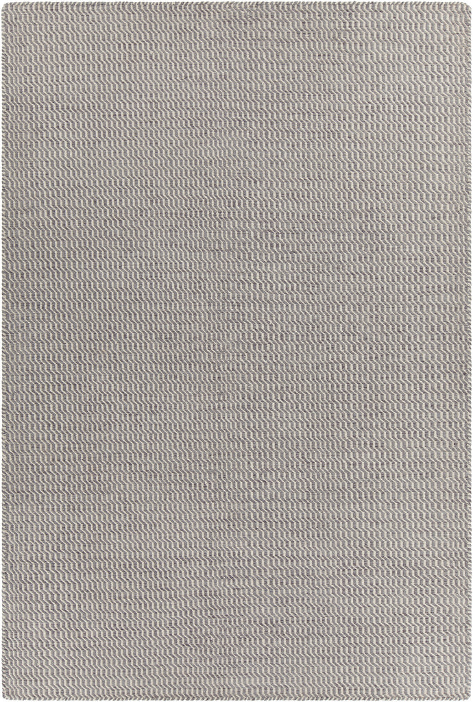 Crest Collection Hand-Woven Area Rug in Grey & White design by Chandra rugs