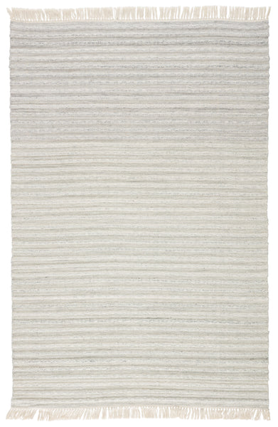 Torre Indoor/ Outdoor Solid Light Gray/ Cream Rug by Jaipur Living
