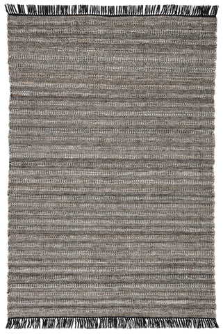 Torre Indoor/ Outdoor Solid Black/ Rust Rug by Jaipur Living