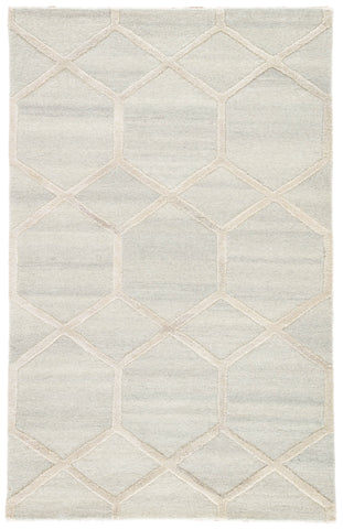 Cleveland Handmade Geometric Cream & Gray Area Rug design by Jaipur