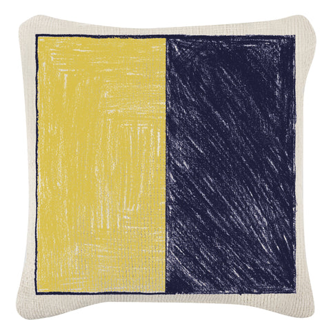 Anchor & Flag Sketch Grain Sack Pillow design by Thomas Paul