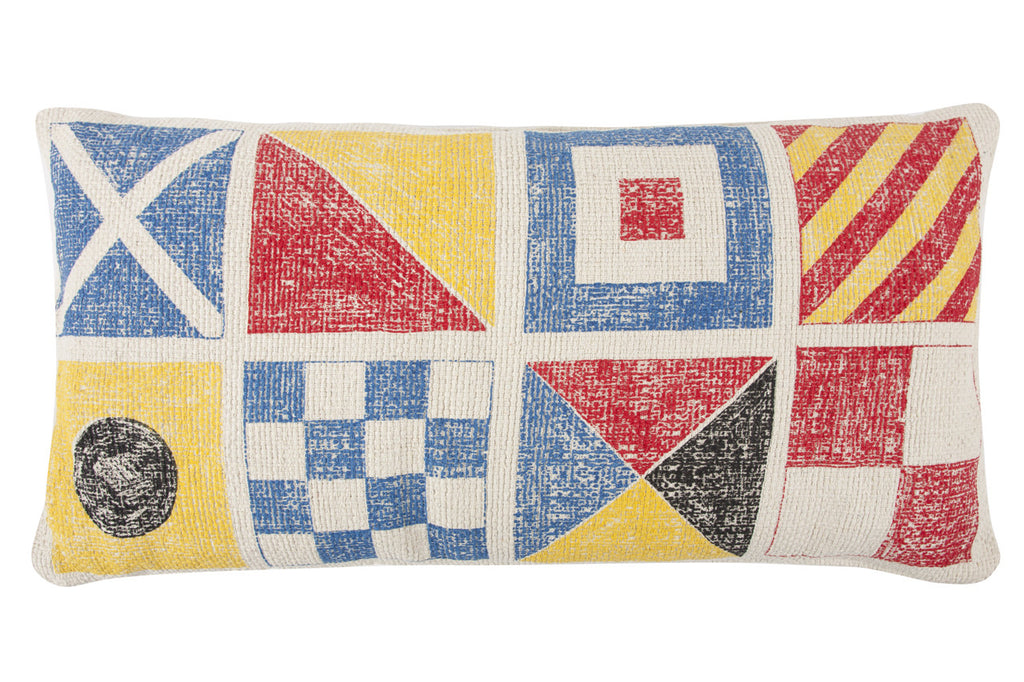 Flags & Knots Sketch Grain Sack Pillow design by Thomas Paul