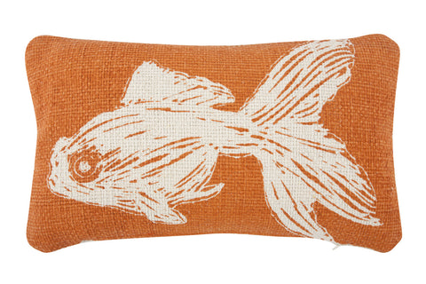 Goldfish Sketch Grain Sack Pillow design by Thomas Paul