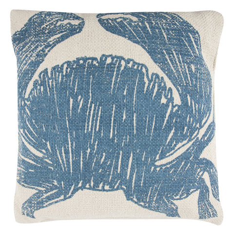 Crab Sketch Grain Sack Pillow design by Thomas Paul