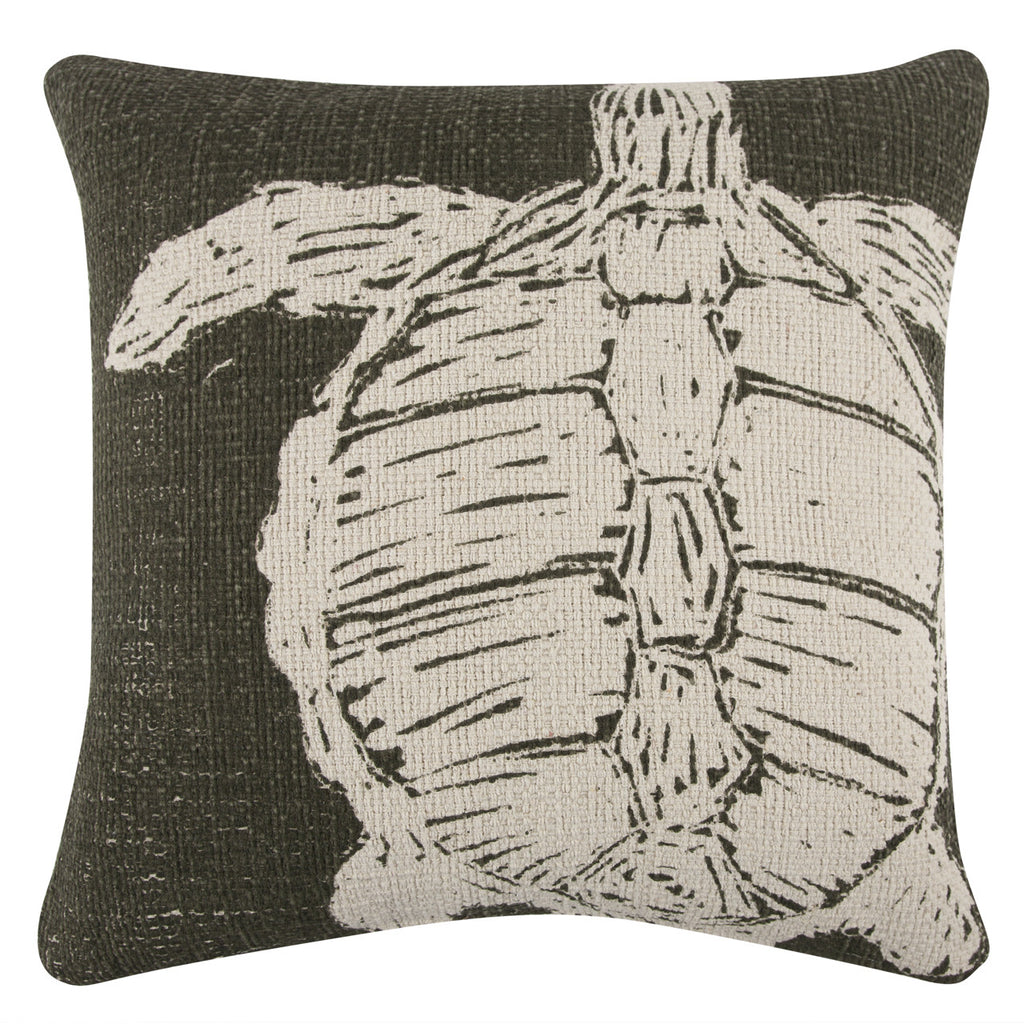 Turtle Sketch Grain Sack Pillow design by Thomas Paul