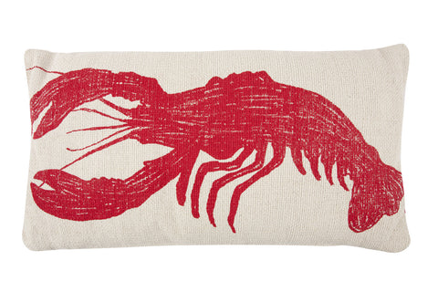 Lobster Sketch Grain Sack Pillow design by Thomas Paul