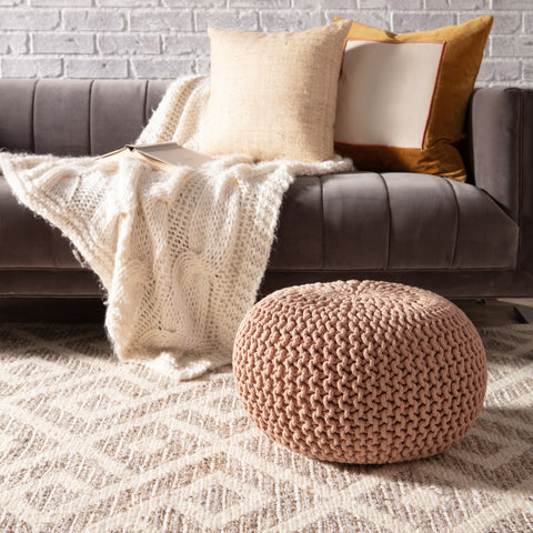 Rigel Natural Trellis Cream/ Taupe Rug by Jaipur Living