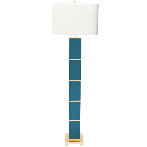 Peacock Teal Floor Lamp by Couture Lamps