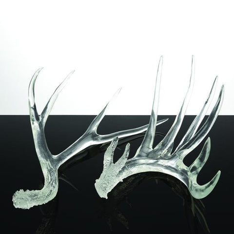 Set of 2 Clear Antlers design by Couture Lamps
