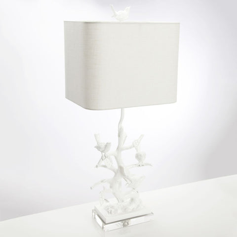 Bird on Branch Table Lamp design by Couture Lamps
