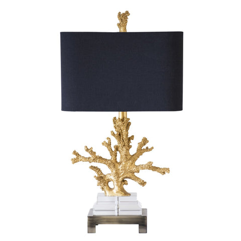 Gold Coral Table Lamp by Couture Lamps