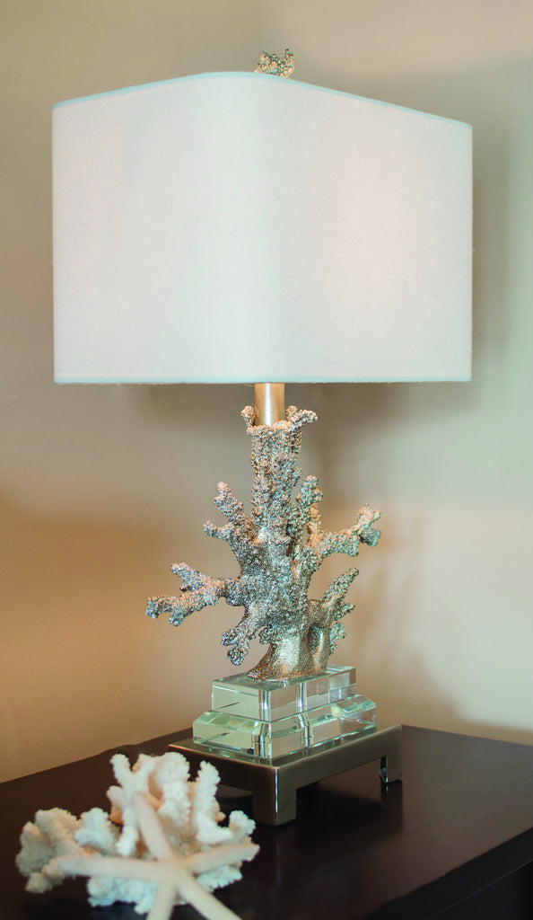 Silver Coral Table Lamp design by Couture Lamps