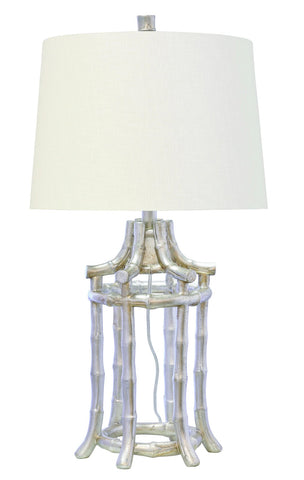 Silver Bamboo Table Lamp by Couture Lamps