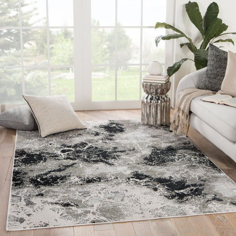 Catalyst Fen Rug in Black by Jaipur Living