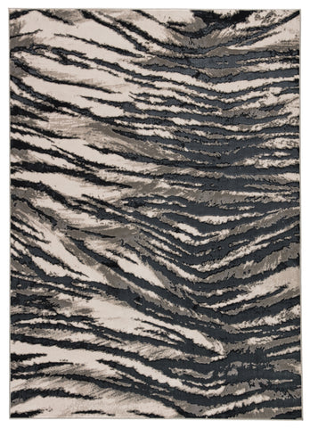 Catalyst Saber Rug in Black by Jaipur Living