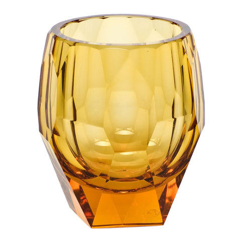 Cubism Double Old Fashioned Glass in Various Colors design by Moser