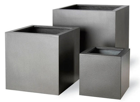 Geo Cube Planter in Aluminum Finish design by Capital Garden Products