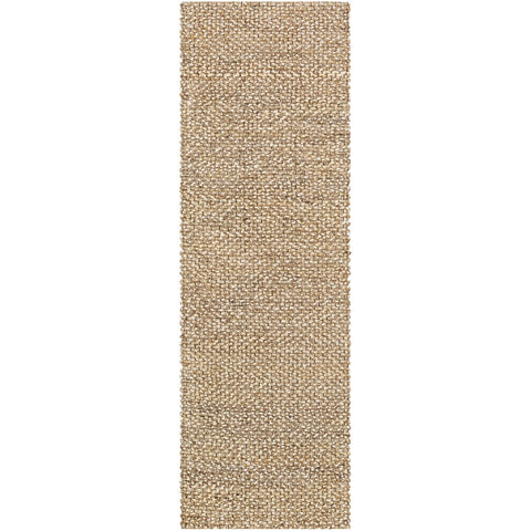 Curacao CUR-2301 Hand Woven Rug in Taupe & Cream by Surya