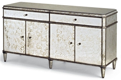 Antiqued Mirror Credenza design by Currey & Company