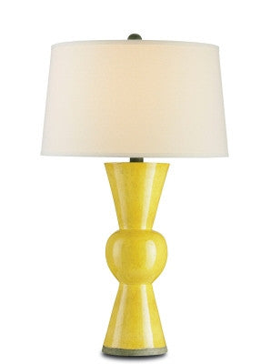 Upbeat Table Lamp in Yellow design by Currey & Company