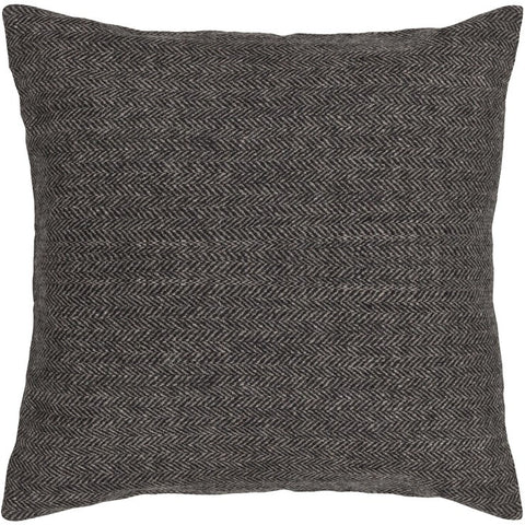 Handmade Contemporary Pillow, Black design by Chandra Rugs