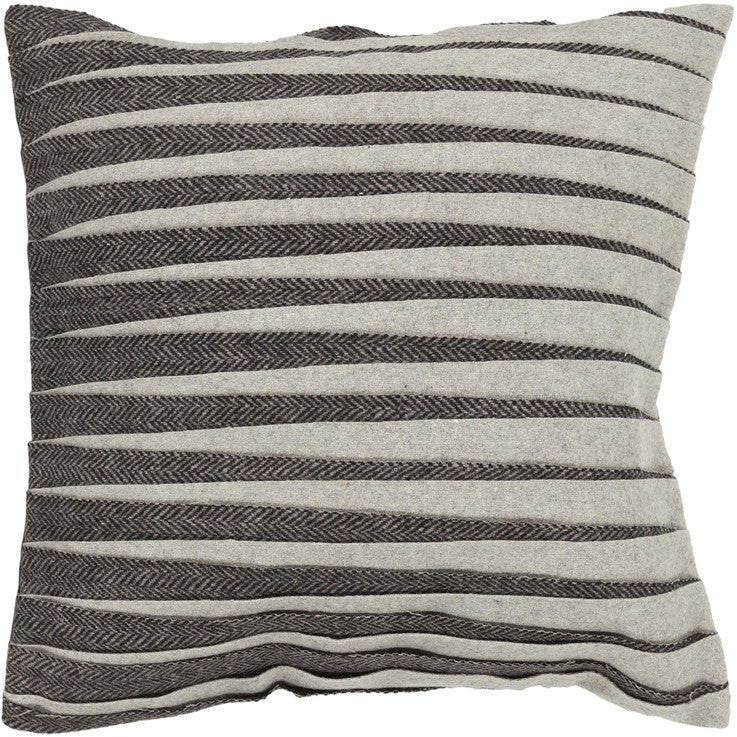Handmade Contemporary Pillow, Black & Grey design by Chandra Rugs