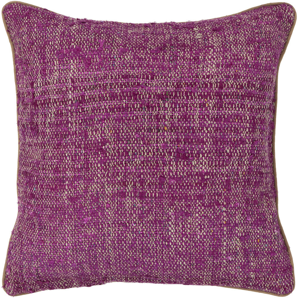 Silk Pillow in Magenta & Natural design by Chandra rugs