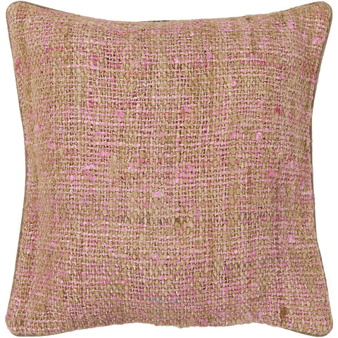 Silk Pillow in Pink & Natural