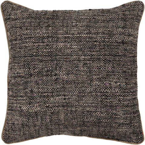 Silk Pillow in Black & Natural
