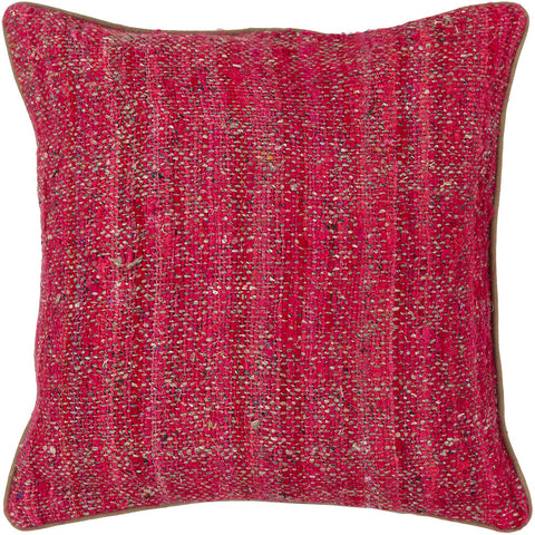 Silk Pillow in Red & Natural