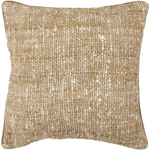 Silk Pillow in White & Natural