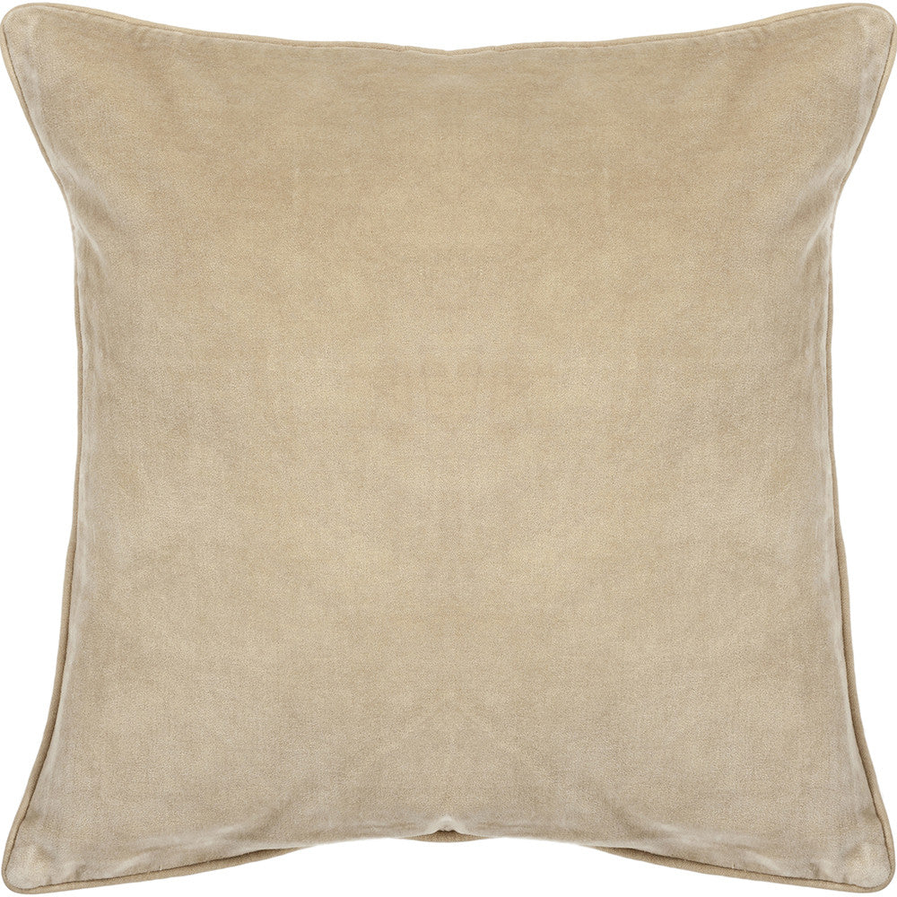 Cotton & Velvet Pillow in Beige design by Chandra rugs