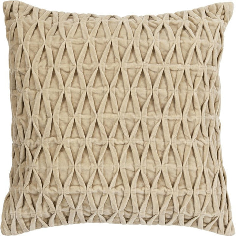 Handmade Contemporary Pillow, Beige