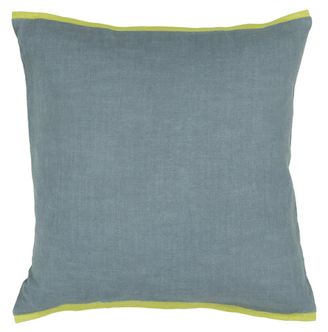 Cotton Pillow in Blue & Green