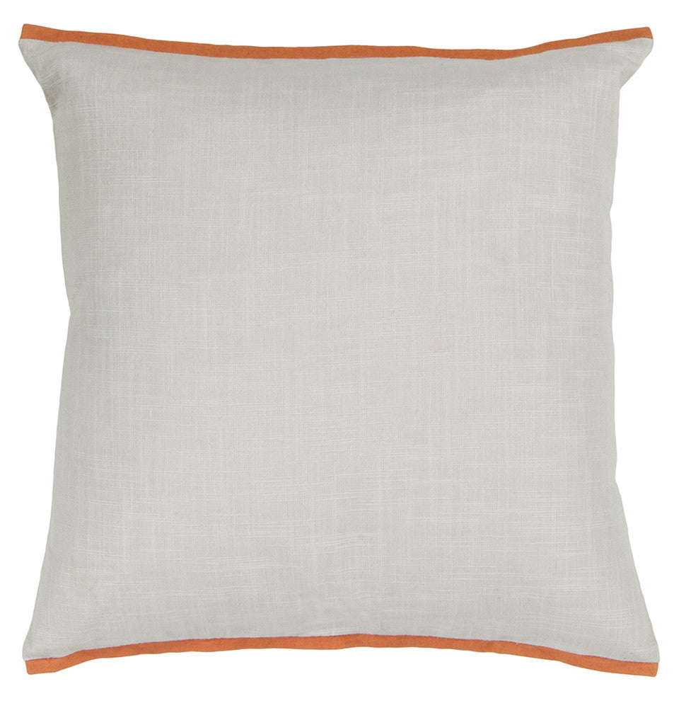 Cotton Pillow in White & Orange design by Chandra rugs