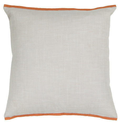 Cotton Pillow in White & Orange