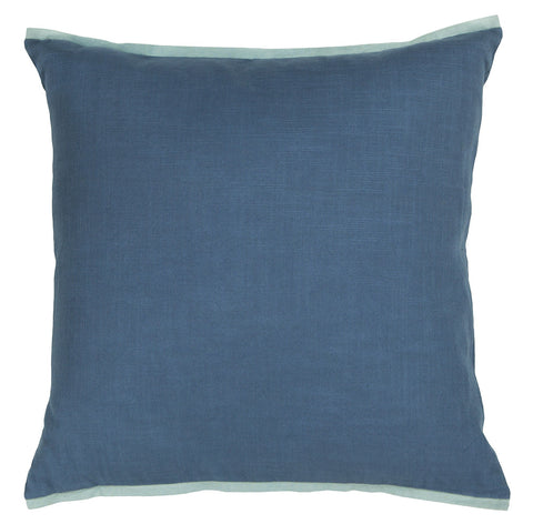 Cotton Pillow in Blue & Light Blue