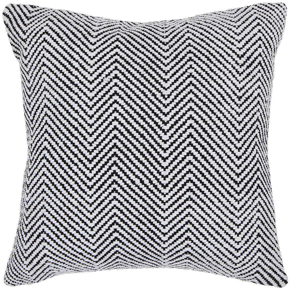 Cotton Pillow in White & Black design by Chandra rugs