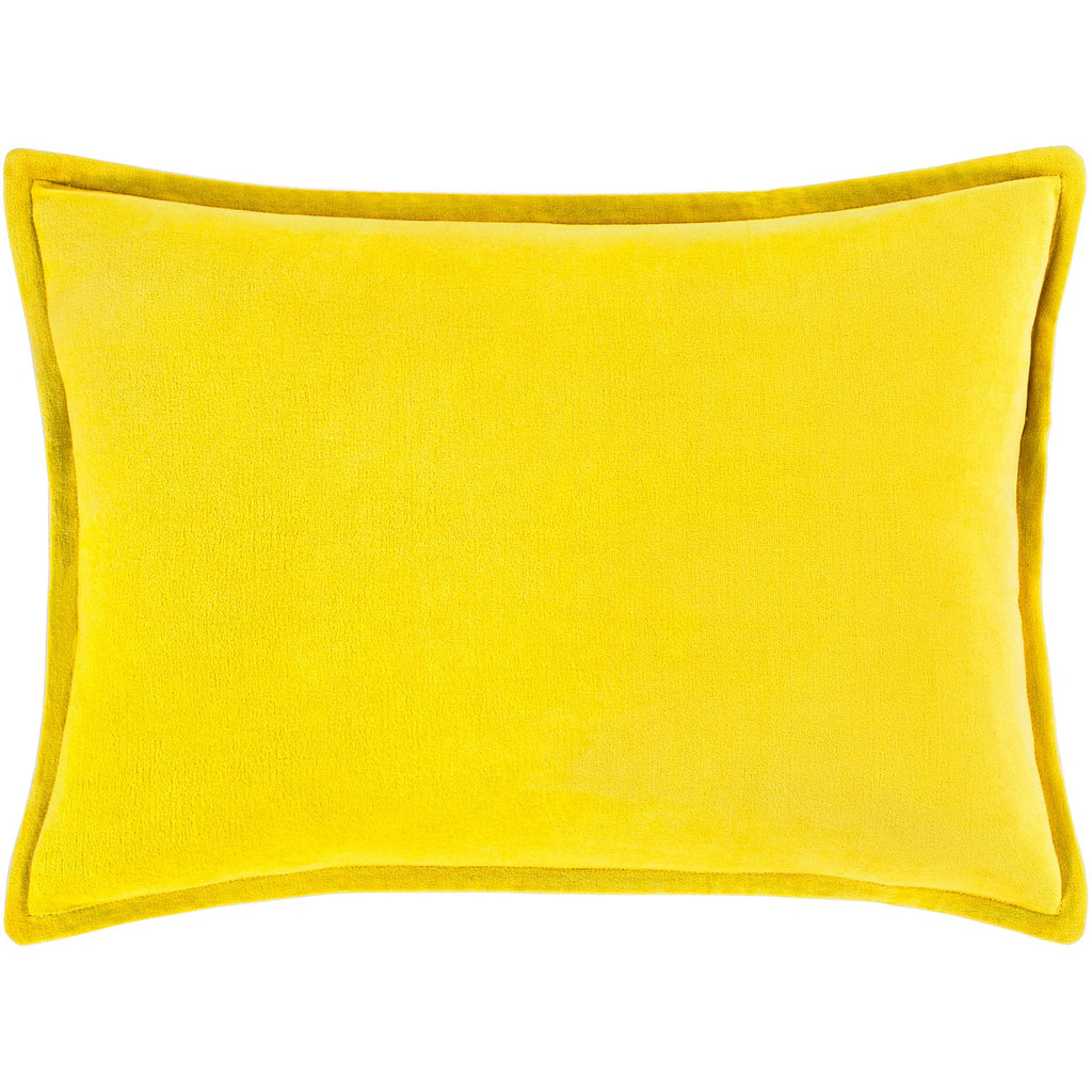Cotton Velvet CV-020 Velvet Pillow in Mustard by Surya