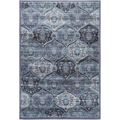 City Light CYL-2325 Rug in Denim & Black by Surya