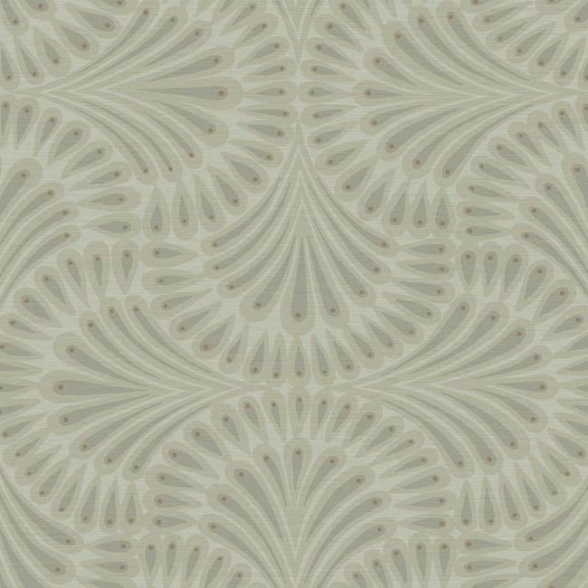 Sample Cabaret Wallpaper in Browns from the Deco Collection by Antonina Vella for York Wallcoverings