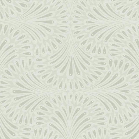 Cabaret Wallpaper in Off-Whites from the Deco Collection by Antonina Vella for York Wallcoverings