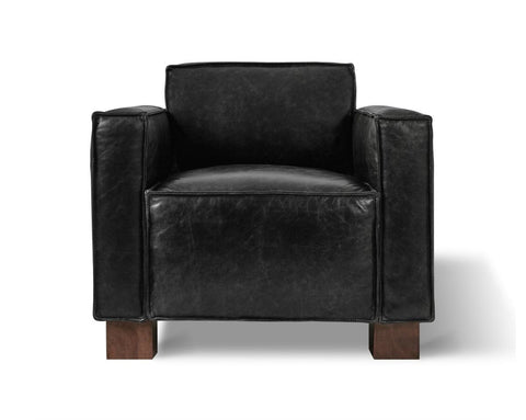 Cabot Chair in Saddle Black Leather design by Gus Modern