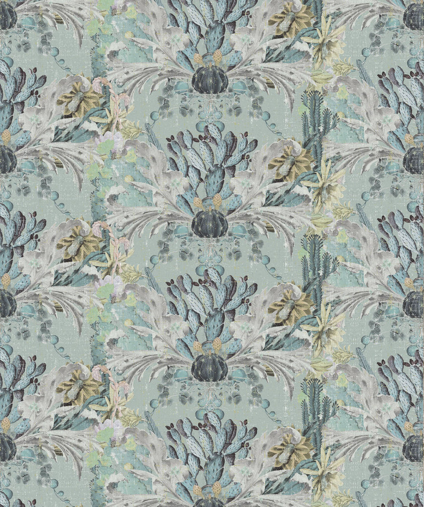 Sample Cactus Wallpaper in Gris by Simcox Designs for Milton & King