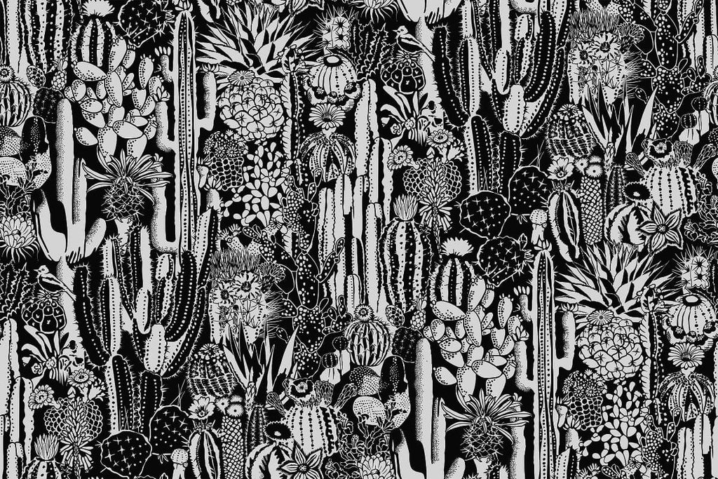 Cactus Spirit Wallpaper in Contrast design by Aimee Wilder
