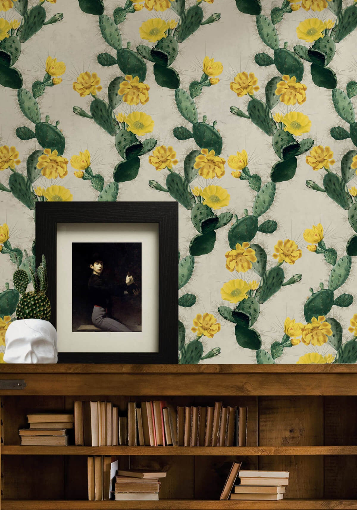 Cactus Wallpaper In Yellow Day From The Kingdom Home